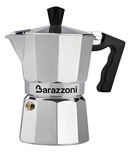Barazzoni La Caffettiera Alluminio 3 Tazze. Prodotto certificato dall'Accademia Italiana Maestri del Caffè.