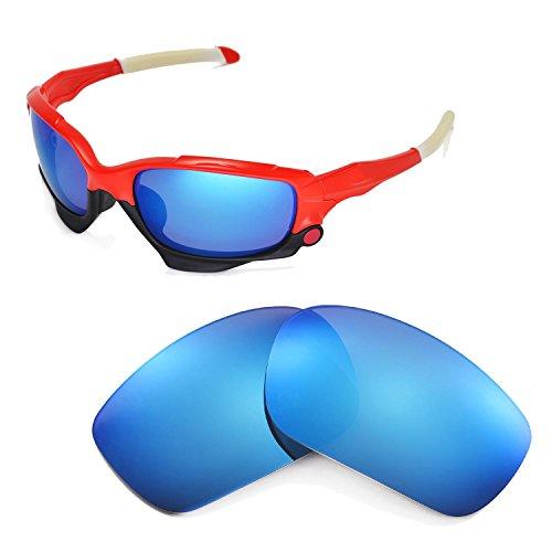 Walleva Ersatzgläser für Oakley Racing Jacket Sonnenbrille - Mehrfache Optionen (Blau)