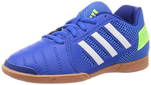 Adidas Top Sala J, Zapatillas Deportivas Fútbol Unisex Infantil niños, Bleu Blanc Jaune, 34 EU