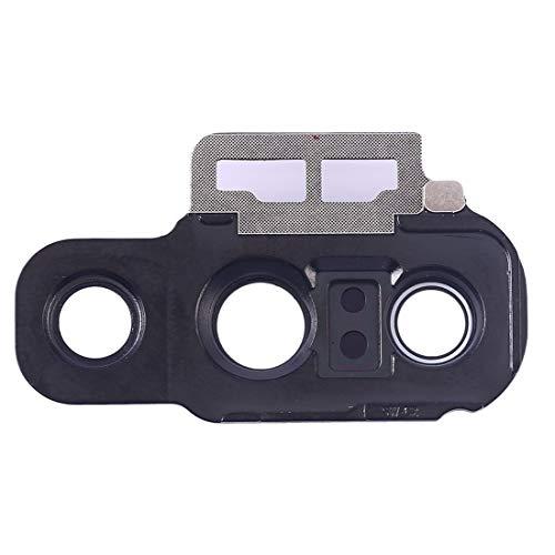 Cristal trasero de repuesto para la lente + marco de la cámara trasera compatible con Huawei P20 PRO / (CLT-TL01 CLT-L09 L29 CLT-L29C) (negro)