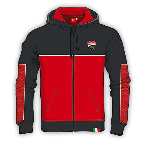 Whybee 2019 Ducati Corse Racing MotoGP Sweat /à Capuche zipp/é pour Homme Taille S-XXXL