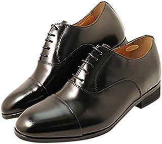 [カラダ快適研究所] ビジネスシューズ 本革日本製 6cmアップ シークレットシューズ 紳士靴 メンズシューズ フォーマル 結婚式 パーティーに最適 内羽 ストレートチップ kk1-791