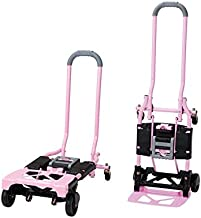 Cosco Shifter 300-Pound Capacity Multi-Position Folding Hand Truck and Cart, Pink Pink