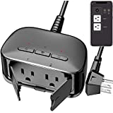 Smart Plug Outdoor, WAKYME Upgraded Outdoor WiFi Outlet IP64 Waterproof, Wifi Plug Works with Alexa, Google Home, No Hub Required, Wireless Remote Control/Timer Function, 15A/1875W FCC ETL Certified