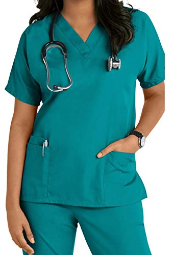 Smart Uniform V 2610 Neck top (L, Teal)