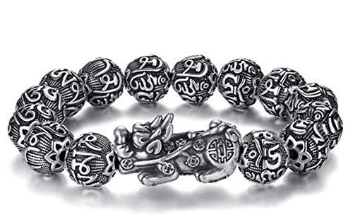 Pulsera de plata de ley S925 para hombre y mujer, diseño de tropas valientes, estilo chino, personalidad dominante, hipster, retro, regalo para novio, papá, regalo, 123, color, 55g