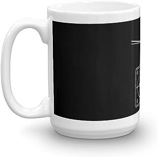 トヨタ Tercel SR5 4WD ワゴン AL25 BW クリノメーター 15オンス セラミック光沢マグカップ コーヒー愛好家へのギフト ユニークなコーヒーマグ コーヒーカップ