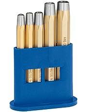 Nithuvud sats med tävlingssteg, 2–6 mm, 5 delar – för nitar DIN 660, specialstål, plasthållare – 4461000