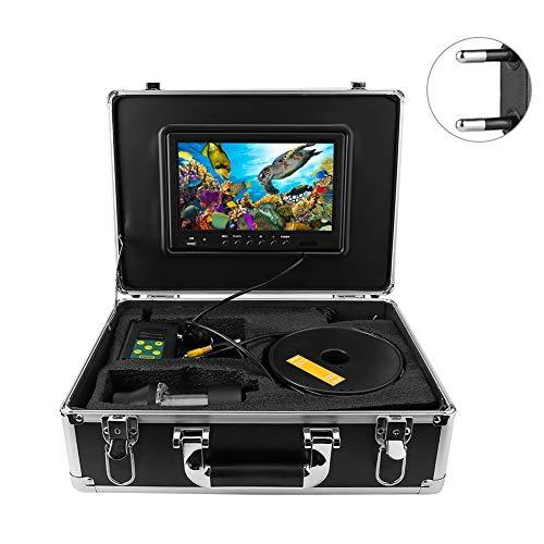 Onderwatervissen camera, 100m 9in LCD onderwater vissen videocamera DVR systeem 360 ° draaibare fishfinder voor ijs, zee en boot vissen (zwart)