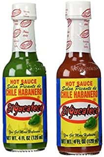 El Yucateco Habanero Sauce Green & Red Twin Pack 4 oz