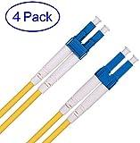 OS1/OS2 LC a LC Cable de Fibra óptica 3m, Fibre Patch Cable Monomodo Duplex 9/125um(LSZH) para Transceiver SFP de 10Gb/Gigabit 4-Pack