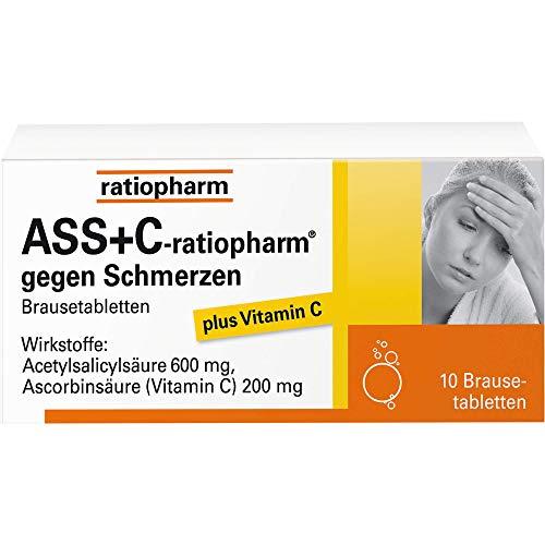 ASS + C-ratiopharm gegen Schmerzen Brausetabletten, 10 St. Tabletten