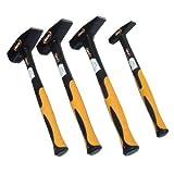 4 Hammer Set 100g 300g 500g 1000g Schlosserhammer DIN 1041
