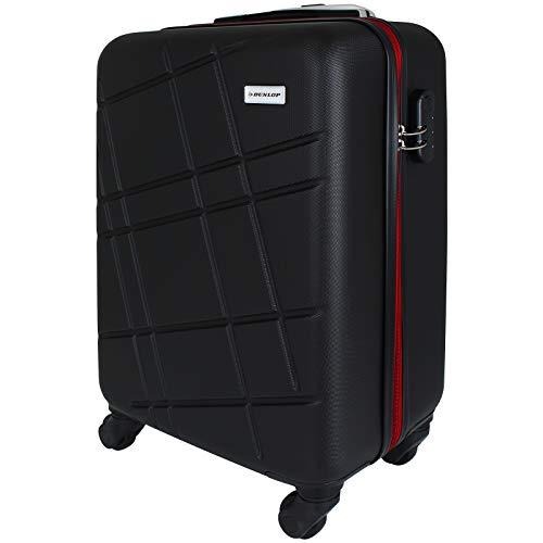 Dunlop Trolley 20 Zoll (35 x 21,5 x 52,5 cm) Hartschale Koffer 30 Liter Handgepäck auf 4 Rollen...