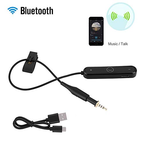 Draadloze hoofdtelefoonkabel, Bluetooth 4.1 Vervang de draadloze hoofdtelefoonkabel met microfoon voor AKG K450 K451 K480 Q460