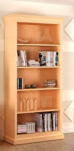 casamia Bücherregal Regal-Schrank Massivholz-Regal Grande mit 4 Regalfachböden Farbe Pinie Vintage