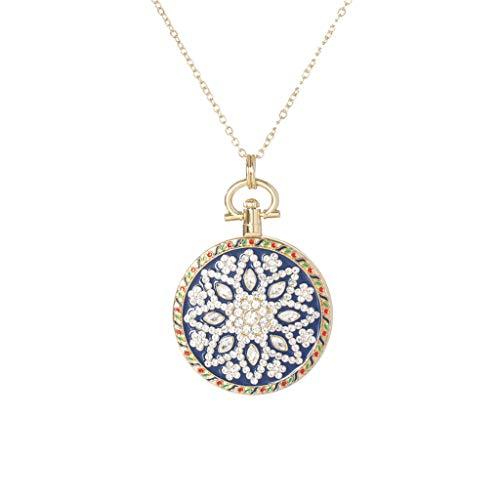 Xu Yuan Jia-Shop Reloj de Bolsillo Collar Reloj de Bolsillo Chino Retro suéter Cadena Pendiente, 77cm Longitud de la Cadena, Regalo de cumpleaños Día de San Valentín Reloj de Bolsillo Vintage