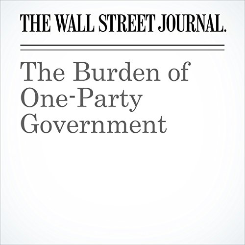 The Burden of One-Party Government copertina