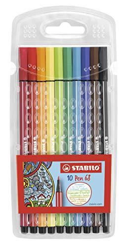Premium-Filzstift - STABILO Pen 68 - 10er Pack - mit 10 verschiedenen Farben