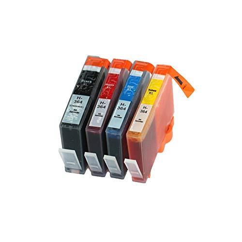 ZIJ Compatible en Forma for el HP 364 364 BK Cartucho de Tinta en Forma for HP Photosmart 5511 5512 5514 5510 5515 5520 5522 5524 6510 6512 Impresoras (Color : 1X BK C M Y)