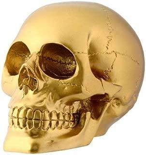 gold skull head