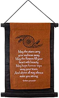 """May The Stars Cotton Banner by Imprints Plus 12.25"""" x 16"""" Inspirational Wall Sign Includes 2 Worry Stones in Pouch, Mounti..."""