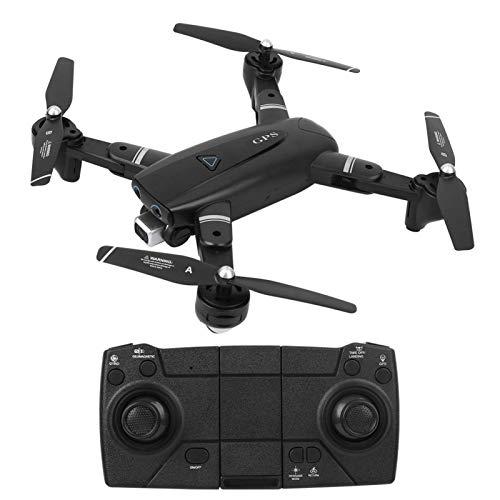 Fotocamera Drone, Drone Pieghevole Quadcopter per Adulti con Sterzo Regolabile a 120 Gradi 1080p Hd Grandangolare Fotocamera Resiste Alle Interferenze Droni Wifi con Funzione Gps(Nero 2.4G 1080P)