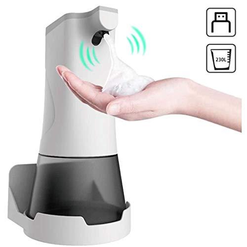 Ysswjzz Automatische zeepdispenser, USB oplaadbare elektrische Sensor Foam Soap Pump, 350ml, Touchless met waterdichte bodem, for badkamer en keuken