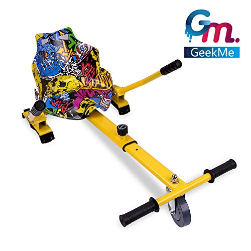 GeekMe Hoverkart per Hoverboard, Go-Kart Accessori di Scooter a bilanciamento Automatico, Lunghezza Regolabile (Hip)