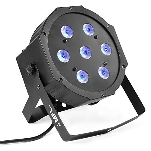Par Lights, MFL. 7X10W RGBW Stage DJ Lighting LED DMX Par Can Light Party Lights DJ Disco Lights Wash Effect Sound Activated Modes for Party Wedding Church