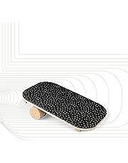 SportPlus Balansbord van hout met rol, antislip griptape, ideaal voor evenwichtstraining, wiebelplank, balanstrainer, gebruikersgewicht tot 100 kg