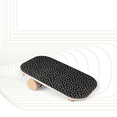 SportPlus Balance Board in Legno con Rullo, Superficie Antiscivolo, Ideale per l'Allenamento dell'Equilibrio, Tavola Propriocettiva, Tavola di Bilanciamento, Peso Utente Max 100 kg