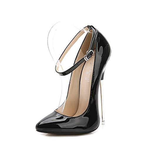 Azastar Damen Schuhe Pumps Stiletto Abend Sexy Klassische Moderne Basic Stiletto High Heel Spitzer Pumps Basic Damenschuhe