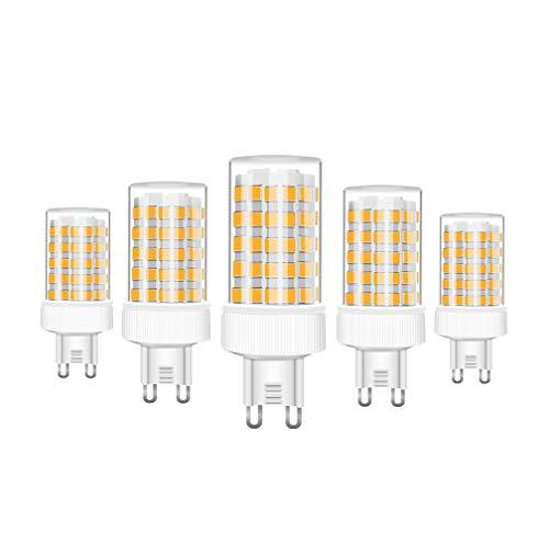 RANBOO G9 LED 10W equivalenti a 80W, Bianco Caldo 3000K 800LM, Non-Dimmerabile, AC220-240V, 360 Angolo a fascio, 5-Pack