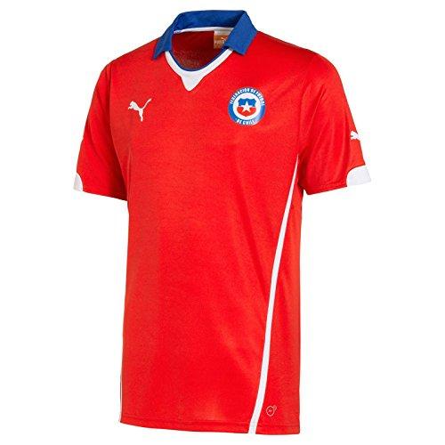 Puma - Camiseta de fútbol para hombre de la equipación local de Chile - Rojo - X-Large