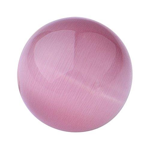 Quiges Austauschbare Mini Coin 12mm Wechselstein Pink Katzenauge Stein für Ringe-Ohrringe-Anhänger-Armband Halter