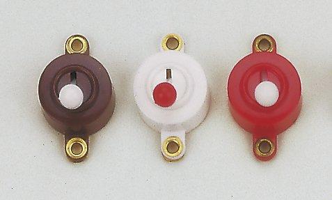 Kippschalter rund weiß, Schalter rot, 3er Pack