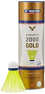 VICTOR Badminton Federball Nylon 2000 6er Dose