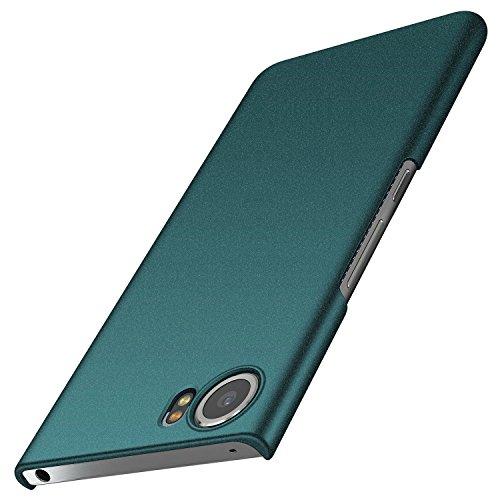 BlackBerry Keyone Hülle, Anccer [Serie Matte] Elastische Schockabsorption & Ultra Thin Design für Keyone (Kies Grün)