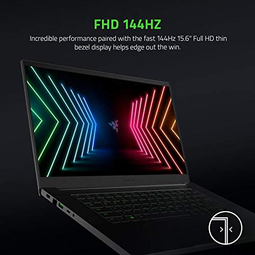 Razer Blade 15 Basis-Modell-15,6 Zoll Gaming Laptop mit 144 Hz Full HD-Display (Intel i7-10750H 6-Kern-Prozessor,NVIDIA GeForce RTX 3060,16 GB DDR4 RAM,512 GB SSD,Chroma RGB) Qwertz DE-Layout,Schwarz