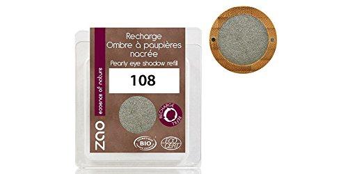 ZAO REFILL Pearly Eyeshadow 108 graugrün Lidschatten-Nachfüller schimmernd / Perlglanz (bio,...