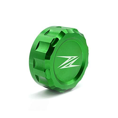 Motocicleta CNC Cubrir Depósitos de Fluidos de Freno Posterior para Kawasaki Z300 2016 Z650 2017 2018 Z900 2017 2018 Z800 2013-2017 Z750 R 2006-2010 Z1000 2007-2016-Verde