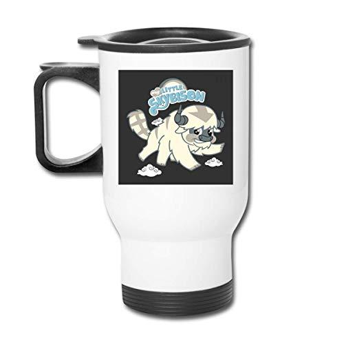 KEDFGUI My Little Sky Bison Avatar Last Airbender Pony Vaso de Acero Inoxidable de 16 oz, Taza de café, Tapa a Prueba de Salpicaduras, Bebidas frías