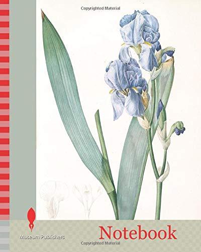 Notebook: Iris pallida, Iris pâle, Dalmatian Iris, Sweet Iris, Orris, Fragrant Iris, Redouté, Pierre Joseph, 1759-1840, les liliacees, 1802 - 1816