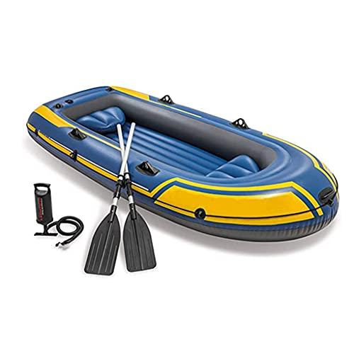 ZXQZ Kayak Kayak Inflable, Botes Marinos Inflables con Remos, Kayaks de Travesía, Bote de Balsa de Piscina para 3 Personas, Soporta hasta 320 KG