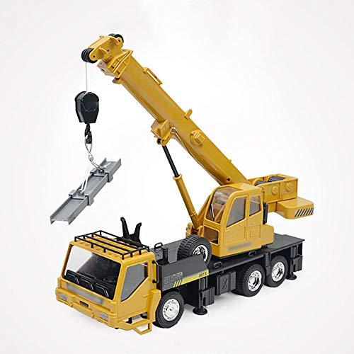 XWSQ Modelo de grúa de Control Remoto Vehículo de ingeniería 1:24 Escala RC Camión Juguetes de vehículos de ingeniería, Mini camión de Control Remoto de simulación para niños