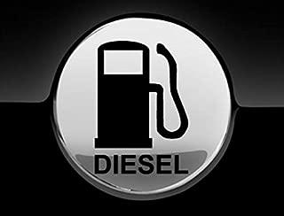 JCM Diesel Fuel Only Fuel Cap Cover Car Sticker, Black