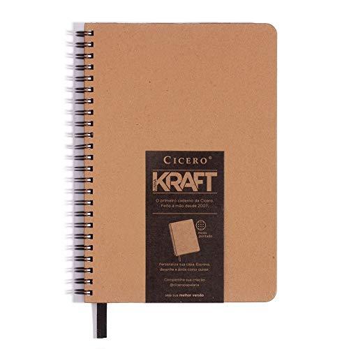 Caderno Kraft Pontado, Cicero, 8836, Bege, 14x21 (Médio)