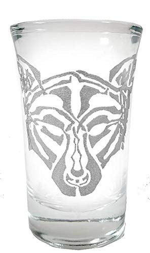 Celtic Wolf Shot Glass - Free Personalized Engraving