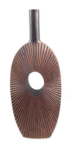 Dekovase Vase Blumenvase 50 cm Hoch Deko Modern Design Keramik braun LN39-7